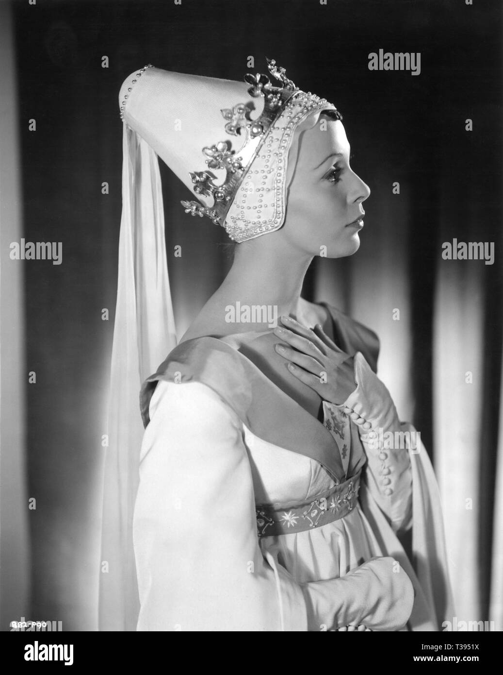 Claire Bloom as Lady Anne in RICHARD III 1955 William Shakespeare director and star Laurence Olivier  Alexander Korda L.O.P. / London Film Productions - Stock Image