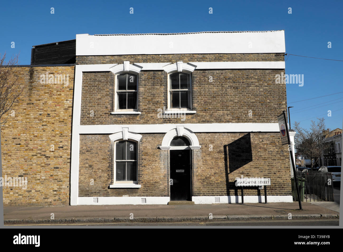Row of terraced housing in Brixton, South London England UK  KATHY DEWITT Stock Photo