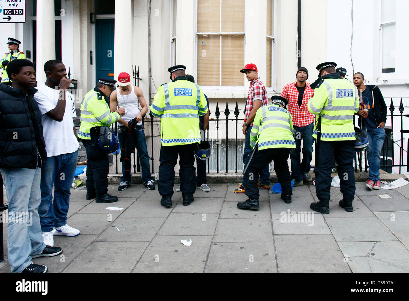 Stop And Search Police Black Man Stock Photos & Stop And