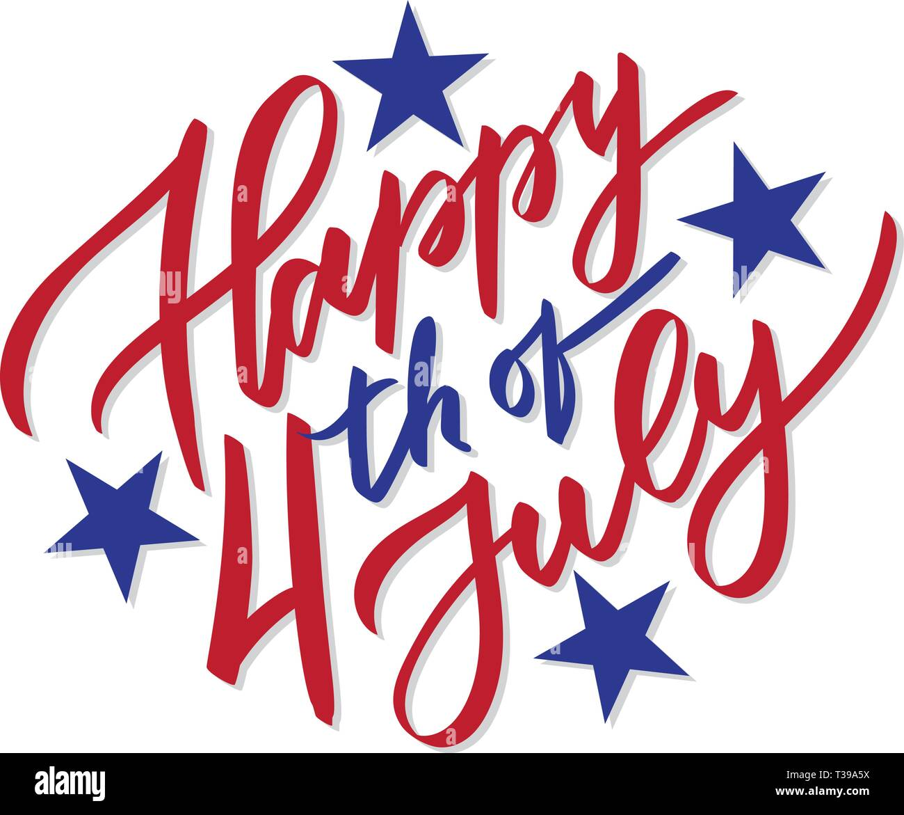 6b494acb48f55e Happy 4th of July - vector typography