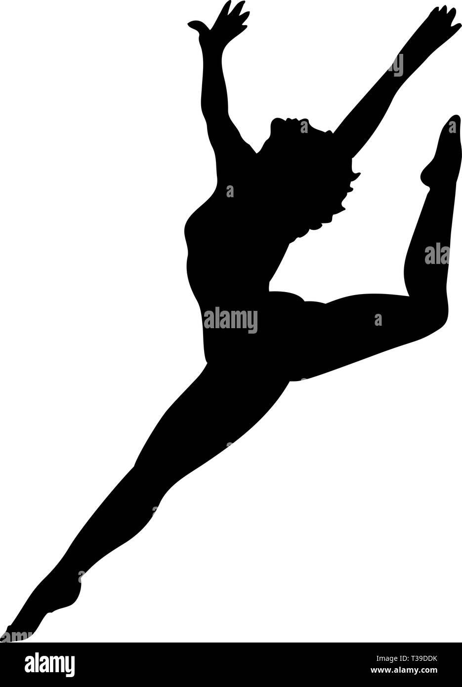Dancer Silhouette Vector Illustration Stock Vector Image Art Alamy