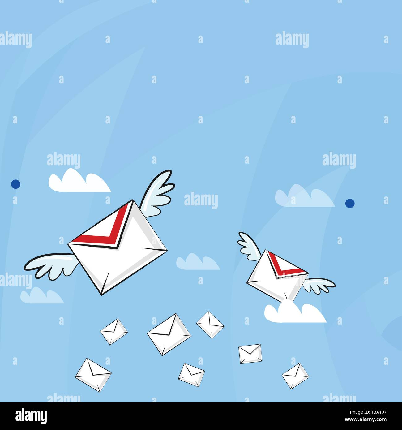 Many Colorful Airmail Flying Letter Envelopes And Two Of Them With
