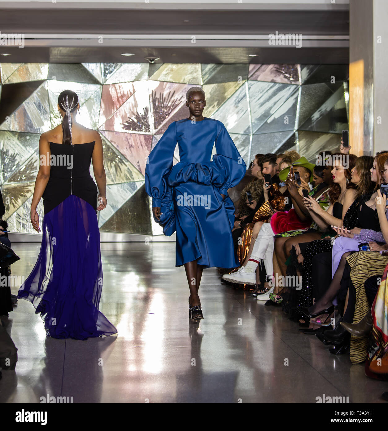 Christian Siriano FW19 Runway show as part of the New York Fashion Week - Stock Image