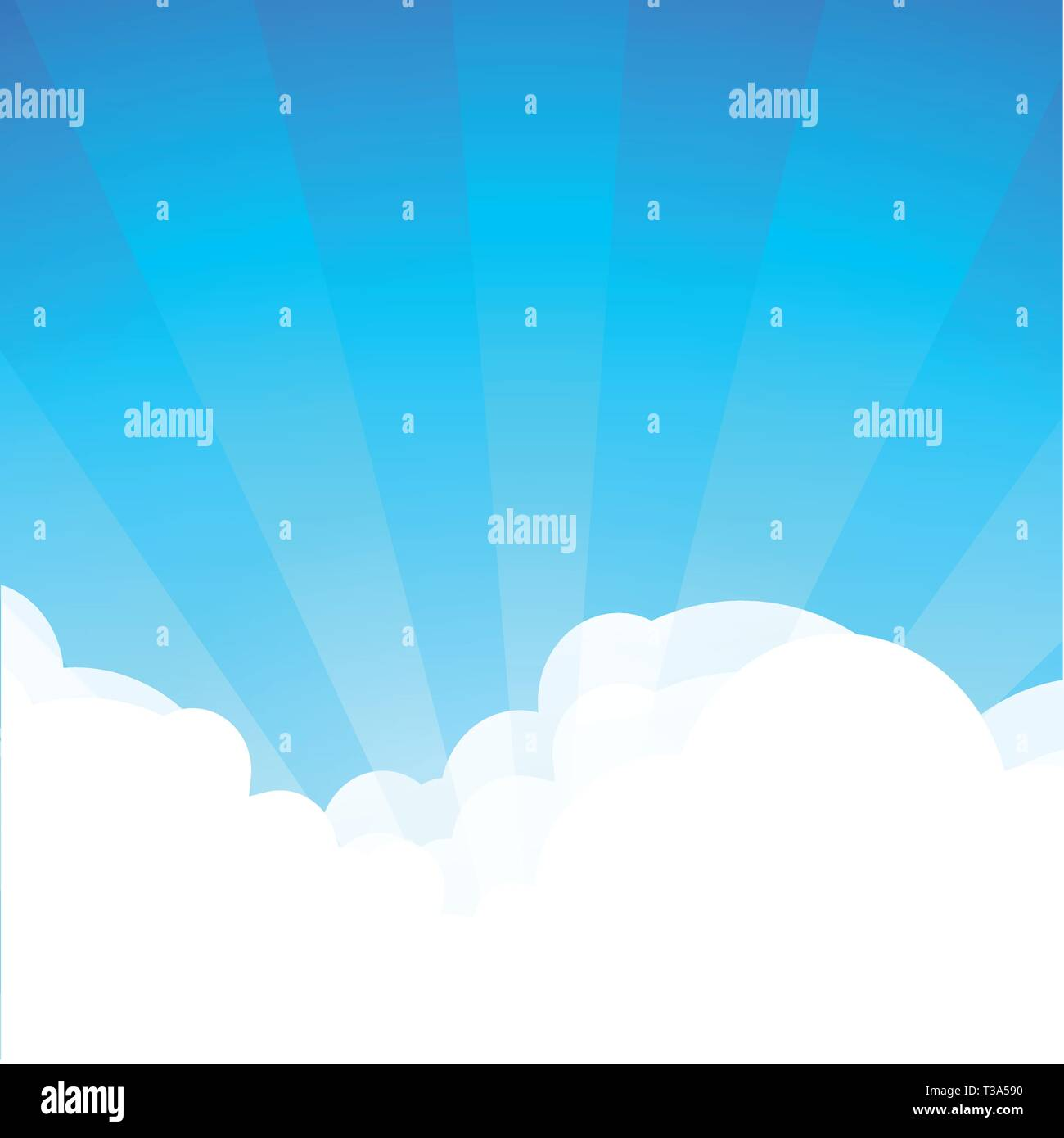 Background With Cloudscape At Sunny Day Cartoon Landscape