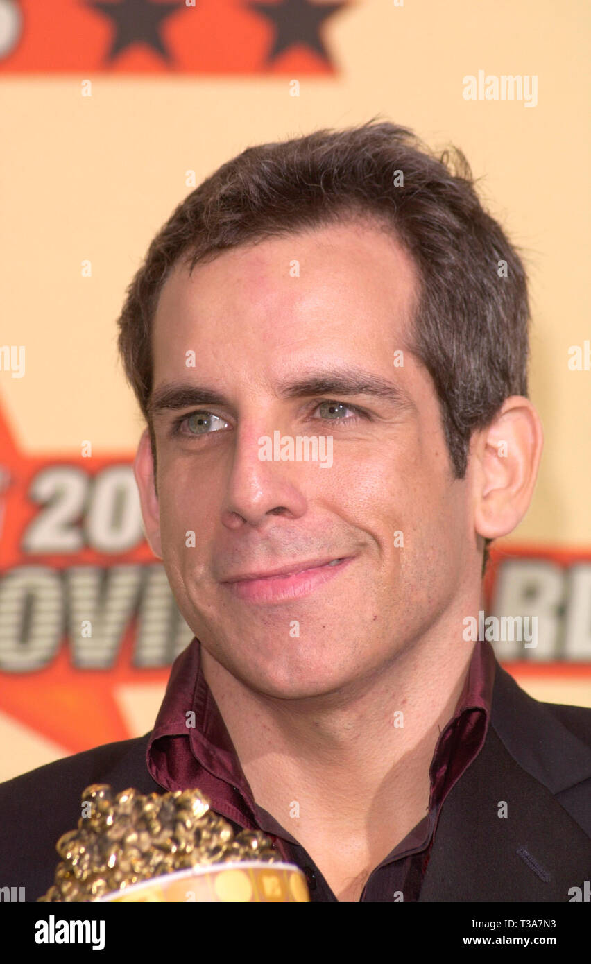 LOS ANGELES, CA. June 02, 2001: Actor BEN STILLER at the MTV Movie Awards in Los Angeles.  He won the award for Best Comedic Performance for Meet the Parents. - Stock Image