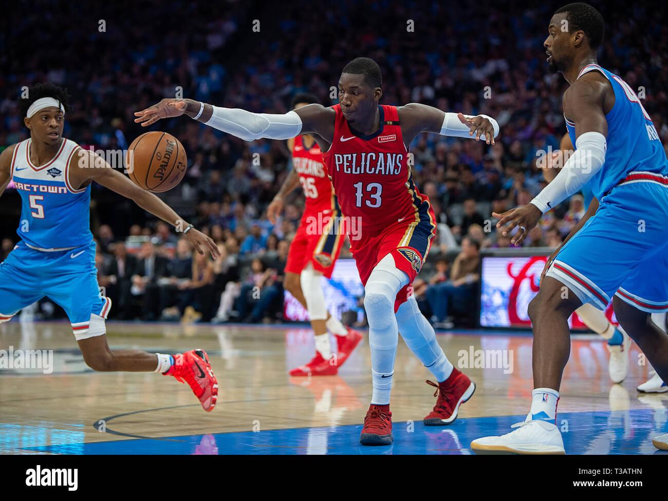 Sacramento, CA, USA  7th Apr, 2019  New Orleans Pelicans
