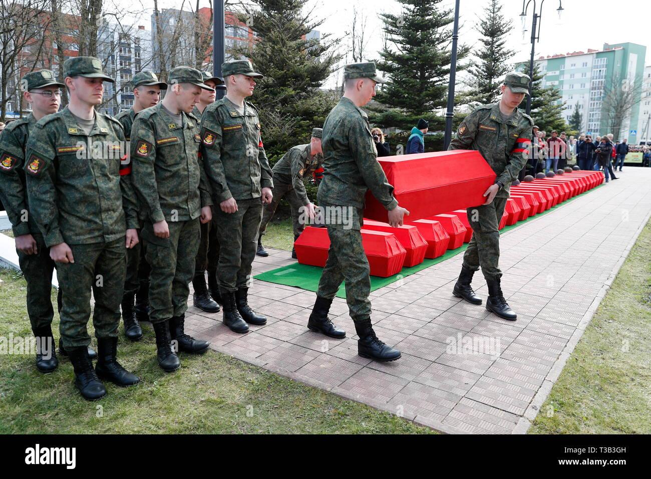 Kaliningrad, Russia  08th Apr, 2019  KALININGRAD, RUSSIA - APRIL 8