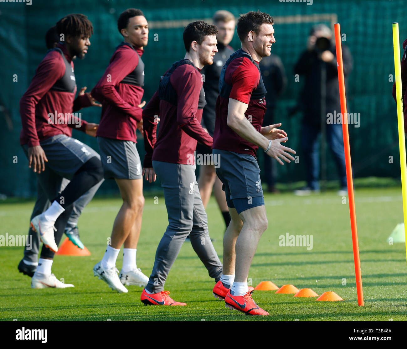 Melwood, Liverpool, UK  8th Apr, 2019  Liverpool training session