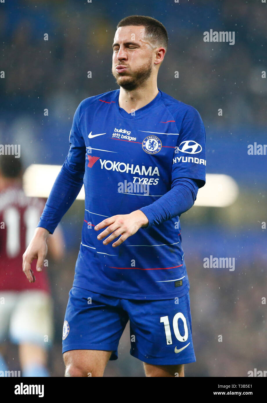 London, UK. 08th Apr, 2019. Chelsea's Eden Hazard during English Premier League between Chelsea and West Ham United at Stamford Bridge stadium, London, England on 08 Apr 2019. Credit: Action Foto Sport/Alamy Live News Stock Photo