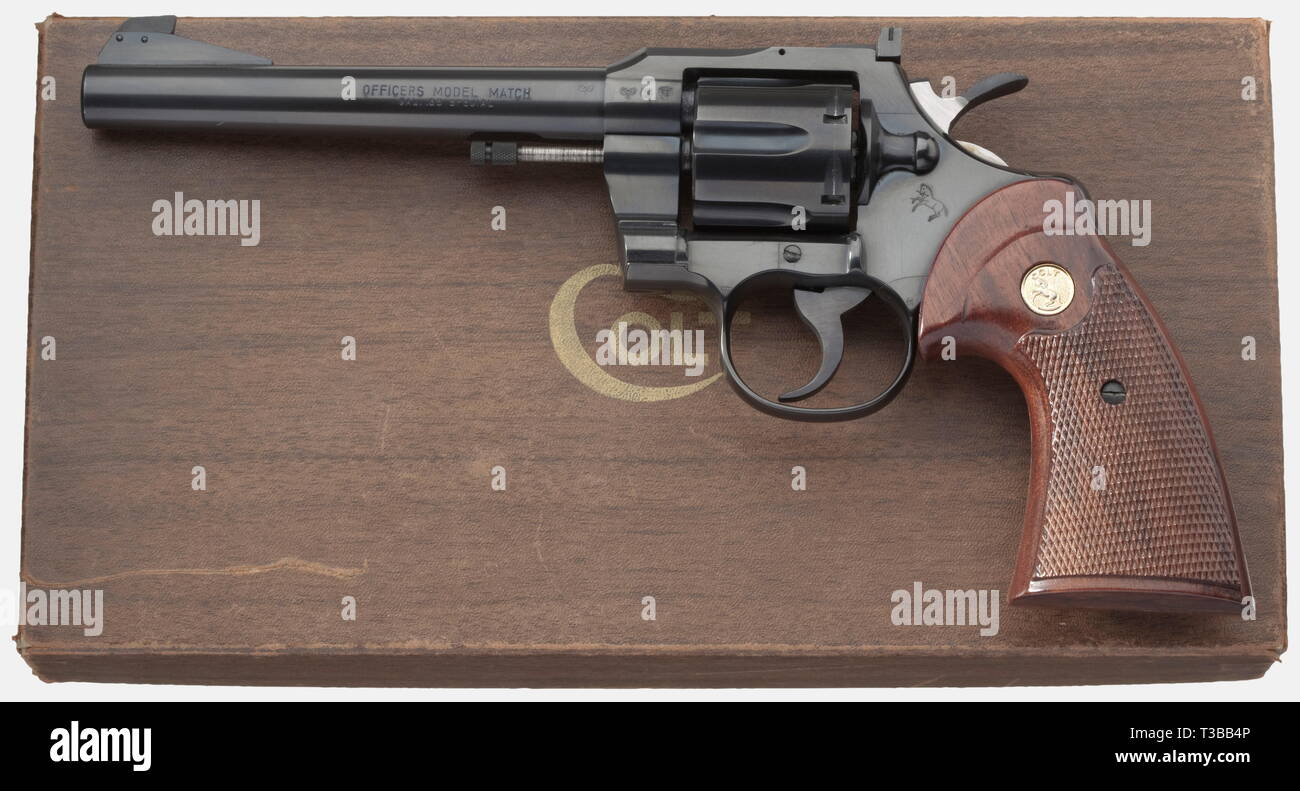 Colt Officer's Model Match, Fifth Issue, caliber .38, Additional-Rights-Clearance-Info-Not-Available - Stock Image