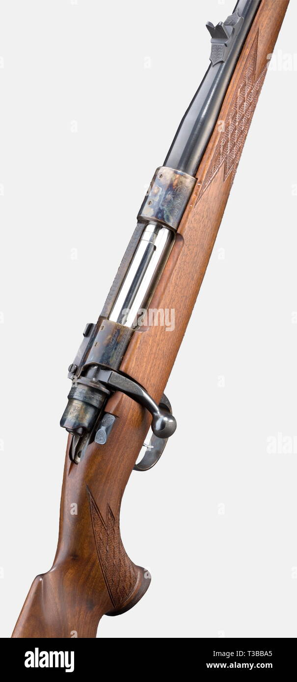 LONG ARMS, MODERN HUNTING WEAPONS, repeating rifle Markgraf Supreme, calibre 7 x 64, number 6550, Additional-Rights-Clearance-Info-Not-Available - Stock Image