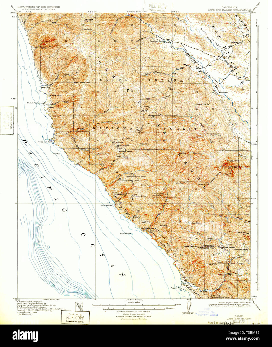 st martin california map Usgs Topo Map California Ca Cape San Martin 297004 1921 62500