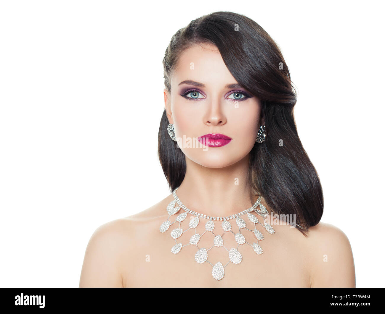 Diamond Jewellery Model High Resolution Stock Photography And Images Alamy