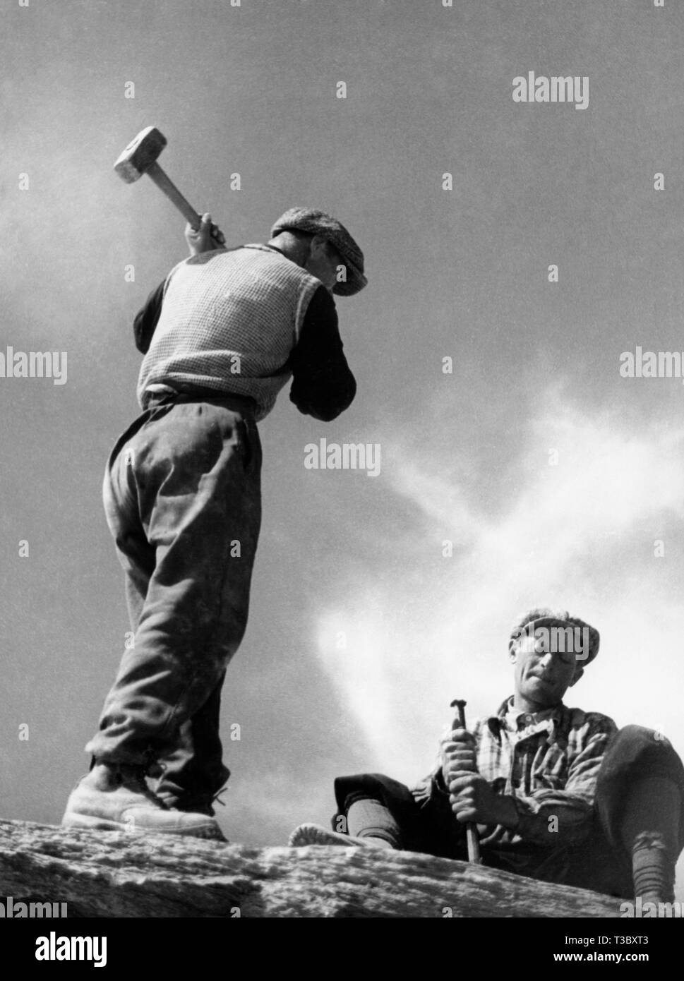 quarrymen, 1955 - Stock Image