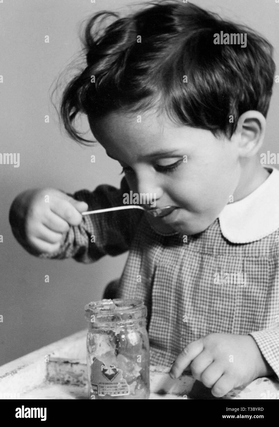 little boy, 1940-1950 - Stock Image