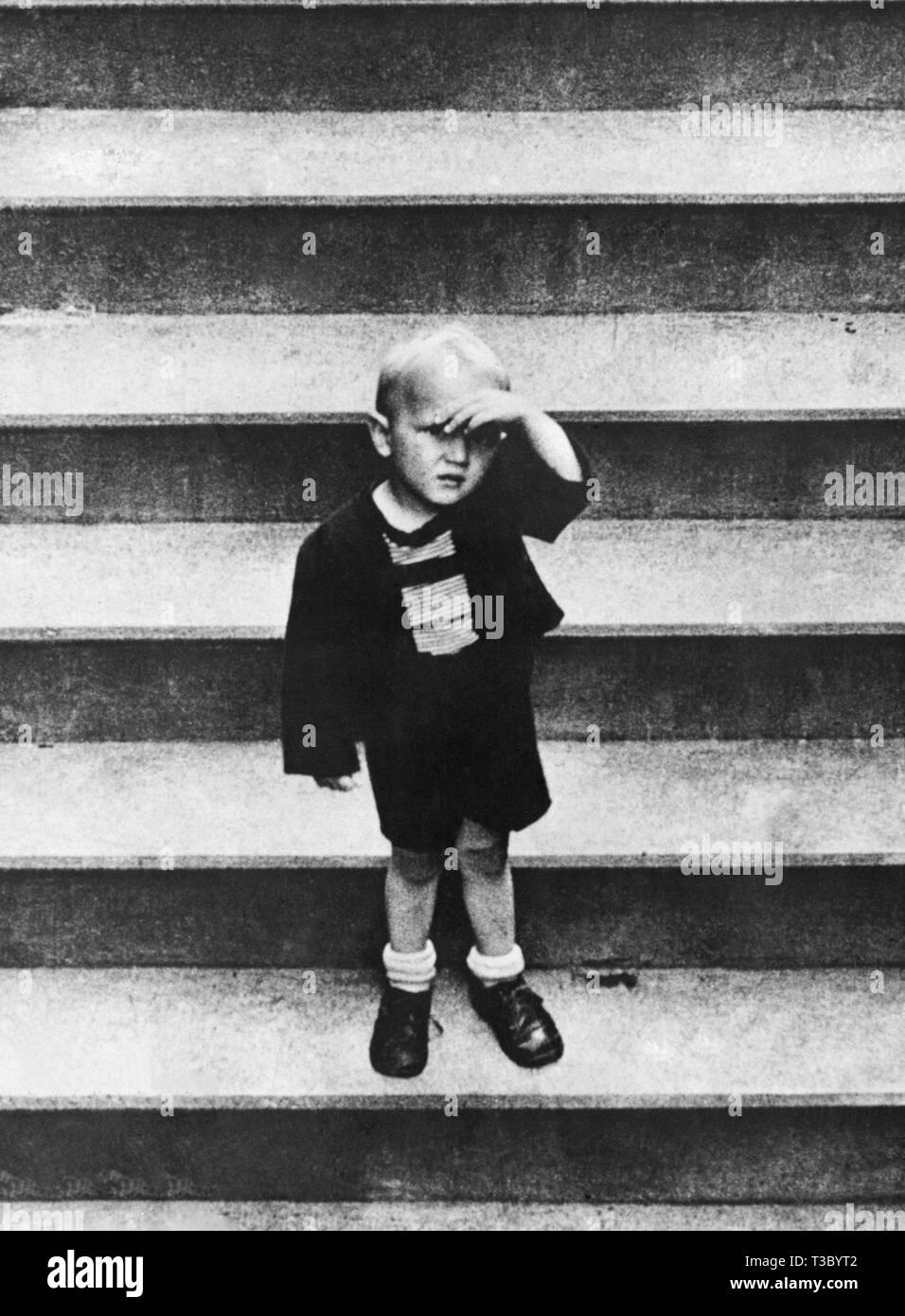 little boy, 1930-1940 - Stock Image