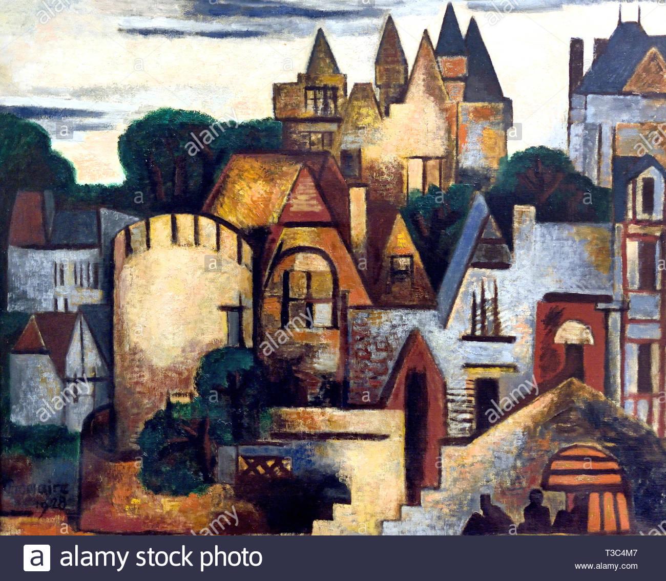 Paris Villas Romanesques 1928 Marcel Gromaire 1882 France French - Stock Image