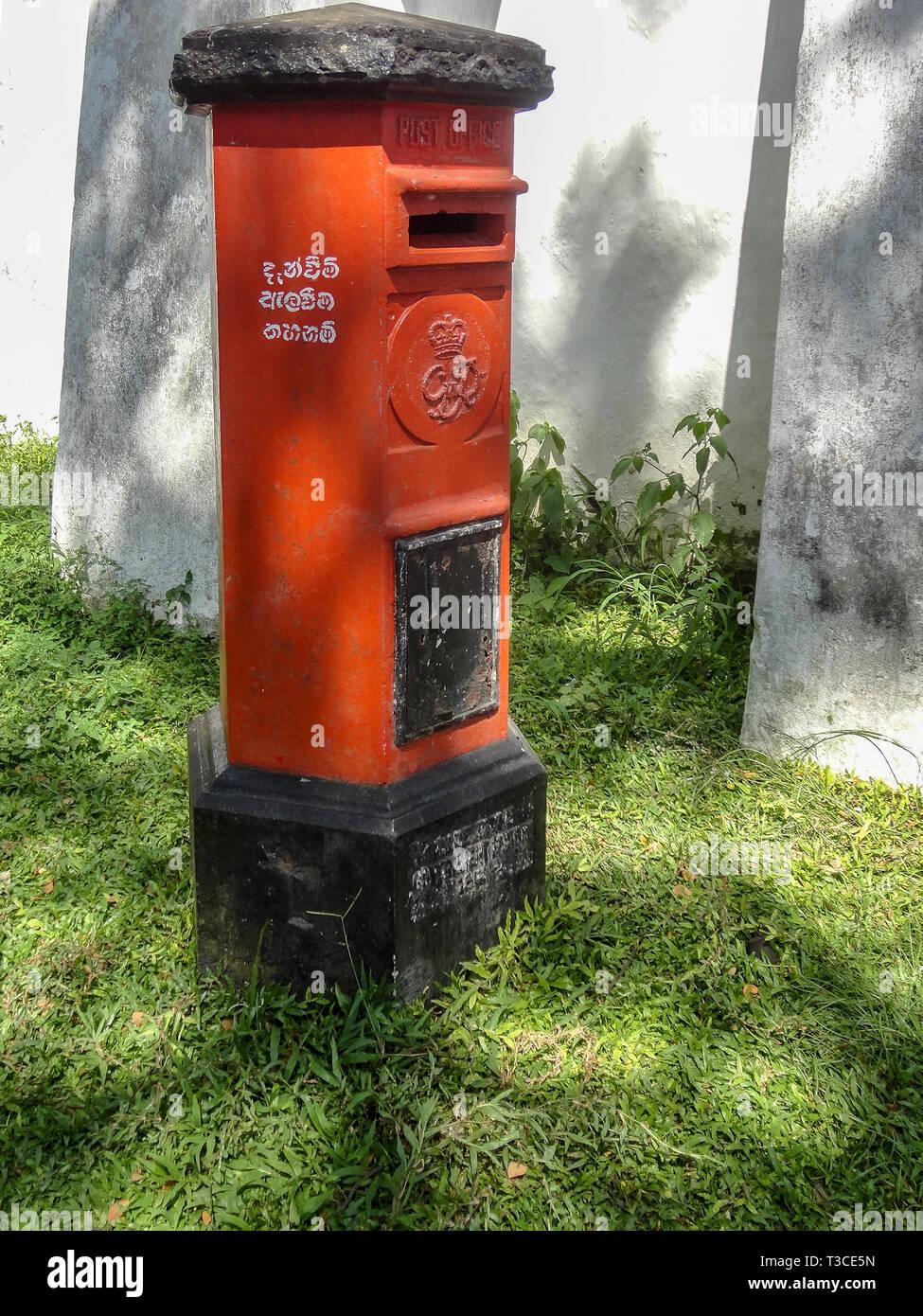 Postbox Galle Sri Lanka. - Stock Image