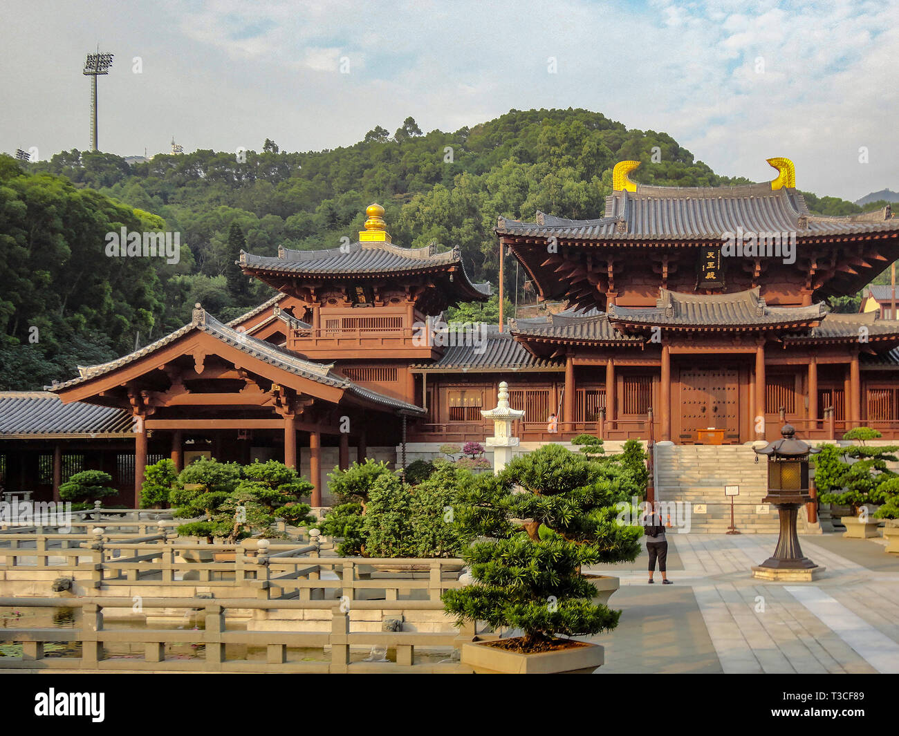 Buddhist temple in Hong Kong - Stock Image