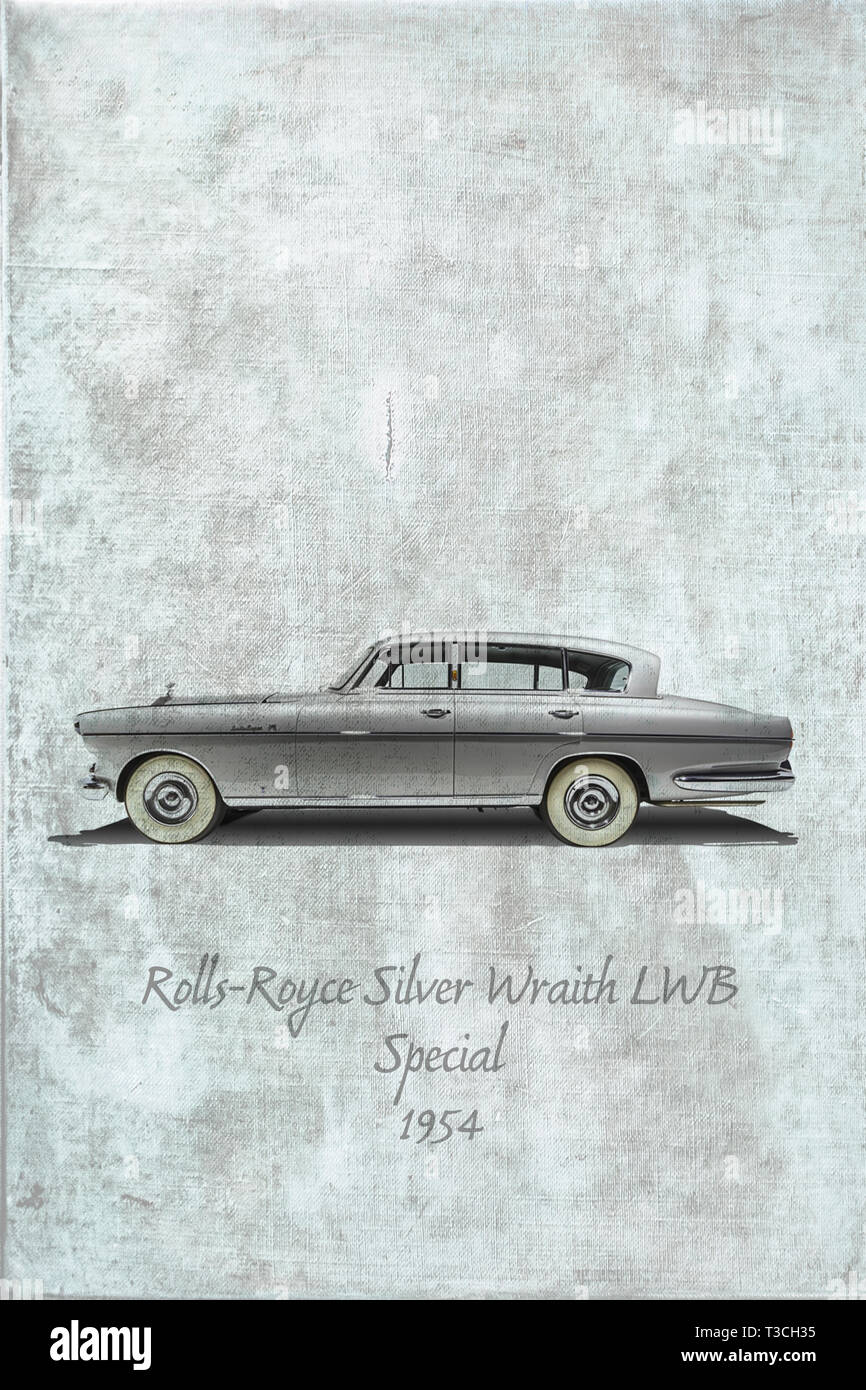 Rolls-Royce Silver Wraith LWB Special  from 1954 Stock Photo