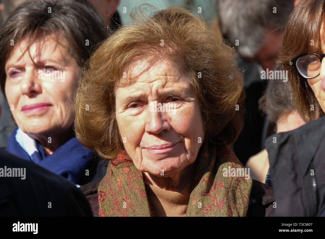 Beate Klarsfeld President of the Association of the Sons and Daughters of Jewish Deportees in France - Stock Image