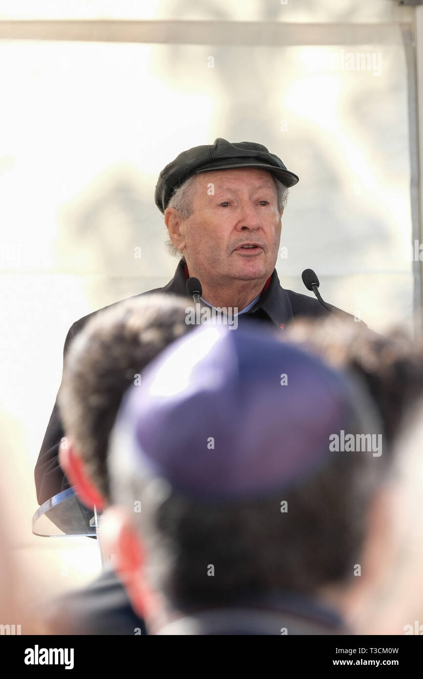 Serge Klarsfeld President of the Association of the Sons and Daughters of Jewish Deportees in France - Stock Image