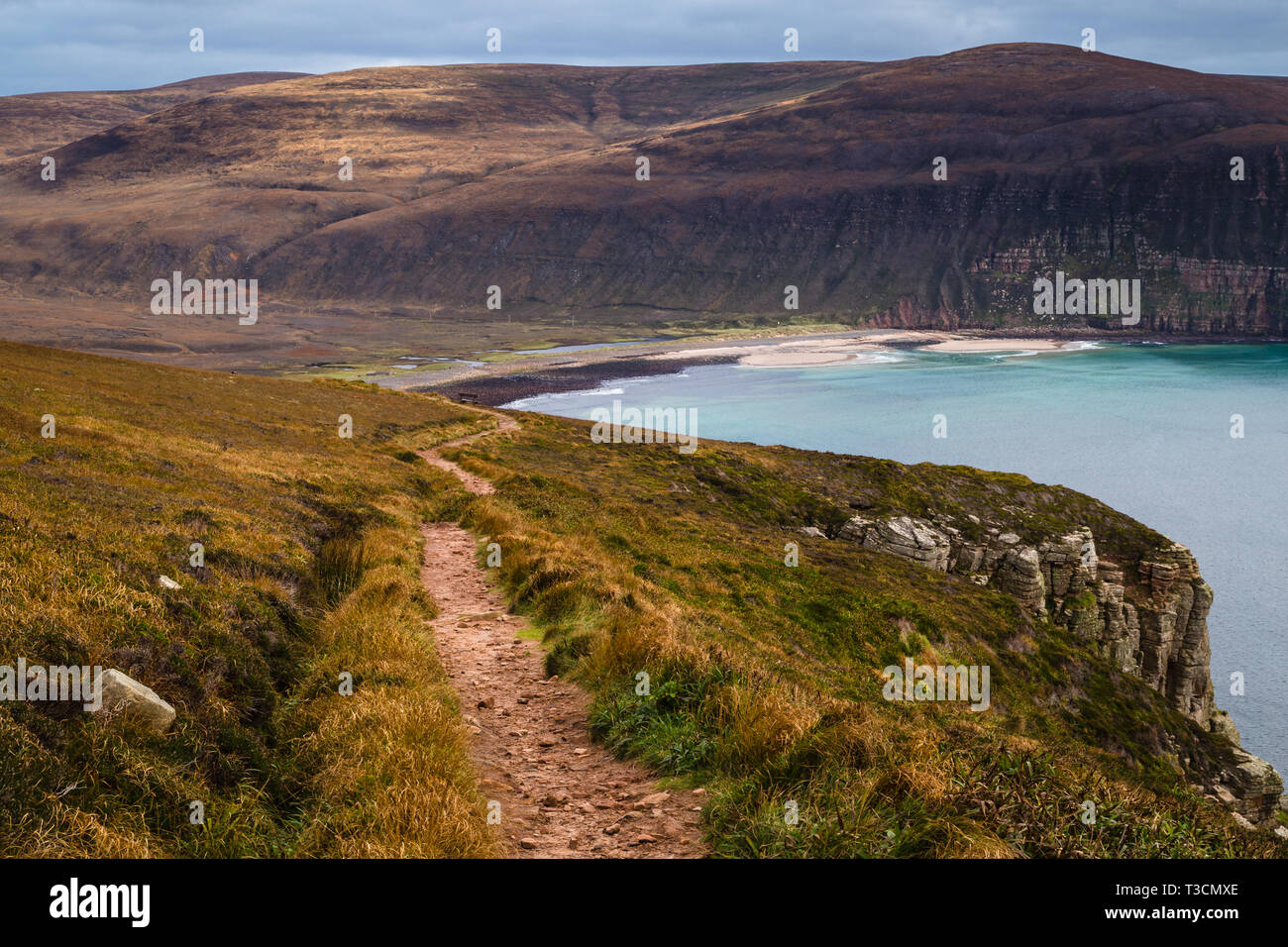 Rackwick from the Old Man path, Hoy, Orkney Islands. Stock Photo