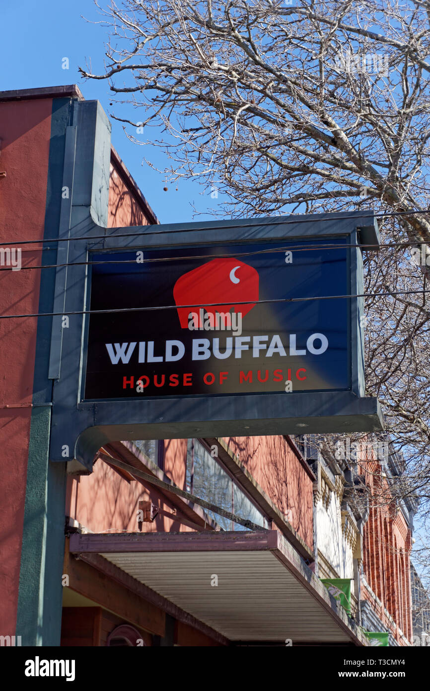 Wild Buffalo House of Music night club in downtown Bellingham, Washington state, USA - Stock Image