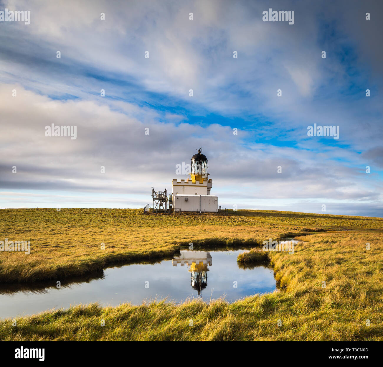 The Stevenson lighthouse on the Brough of Birsay, Orkney Islands. - Stock Image