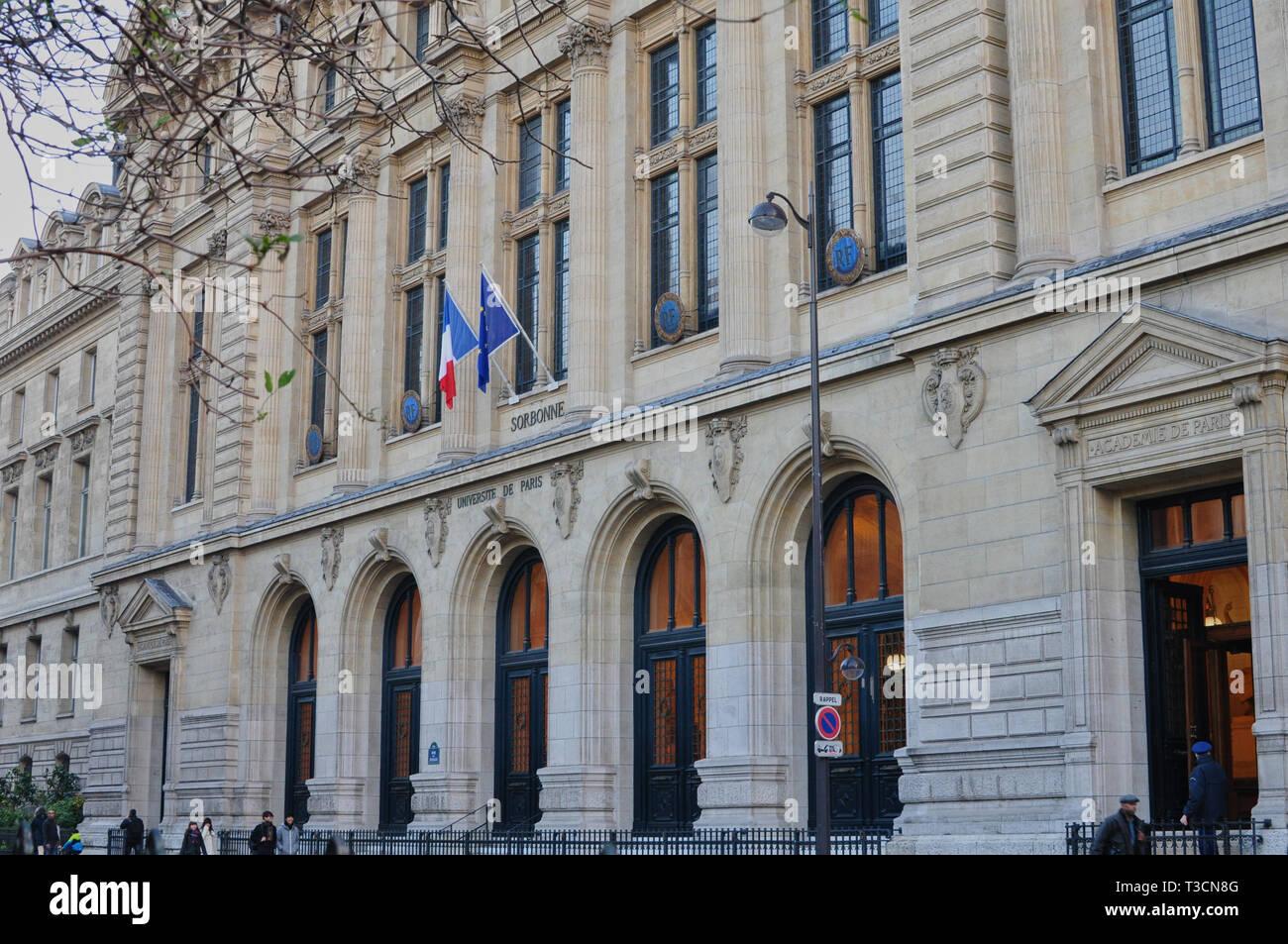 Paris, France - 02/10/2015: University of Paris, Sorbonne - Stock Image