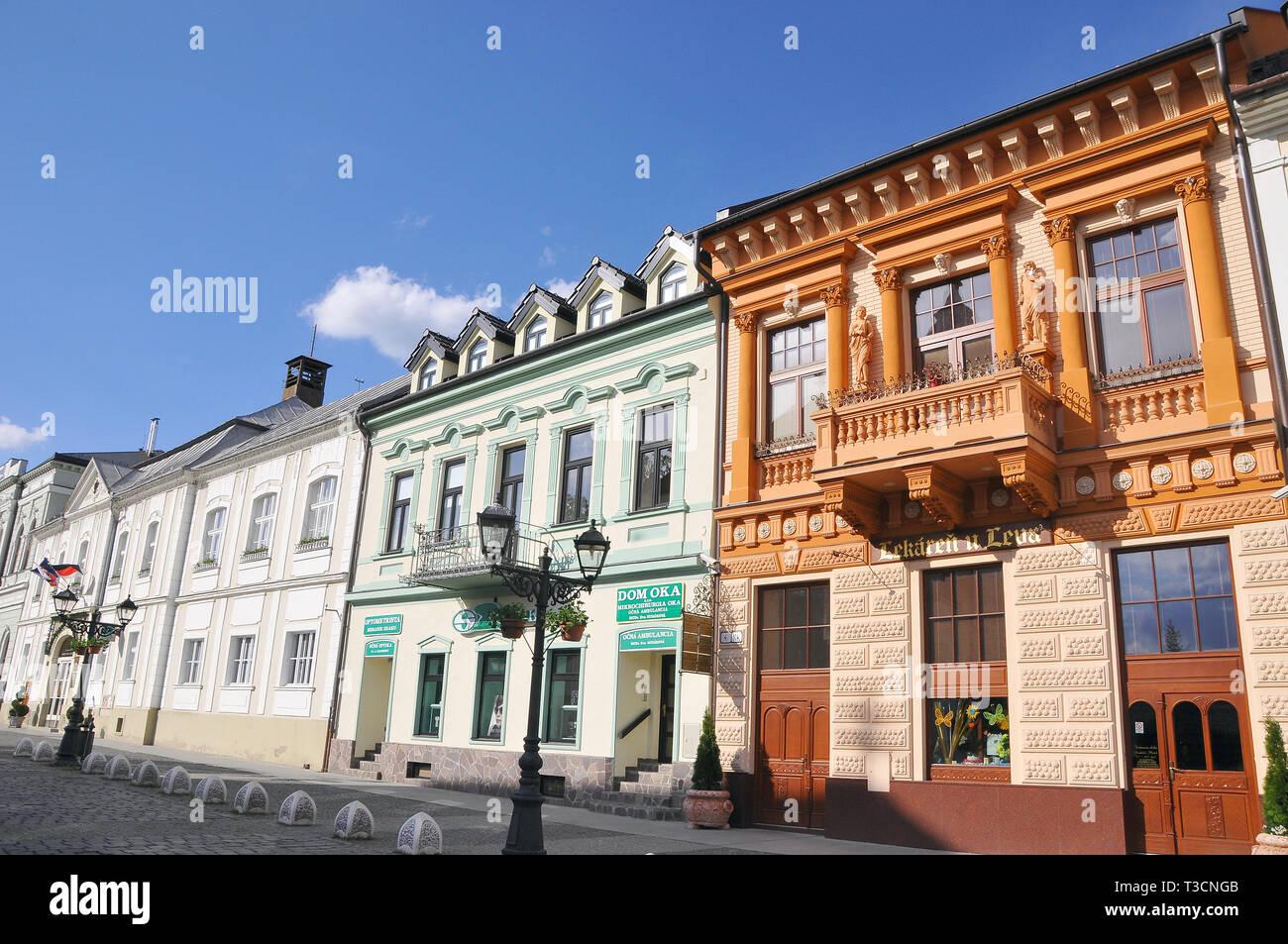Building, Rimavská Sobota, Slovakia. Épület, Rimaszombat, Szlovákia. - Stock Image