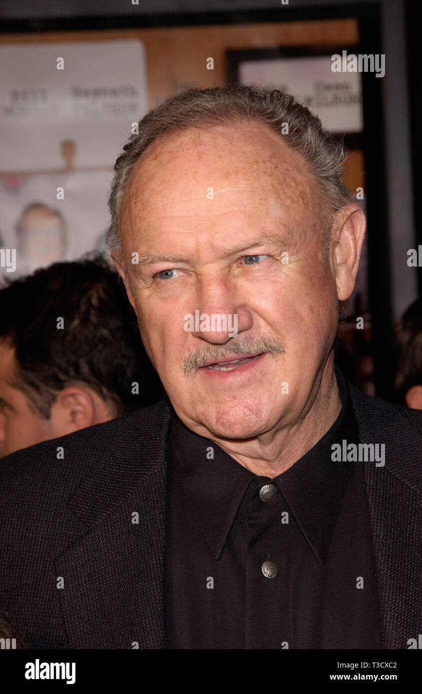 LOS ANGELES, CA. December 06, 2001: Actor GENE HACKMAN at the Hollywood premiere of his new movie The Royal Tenenbaums. © Paul Smith/Featureflash - Stock Image