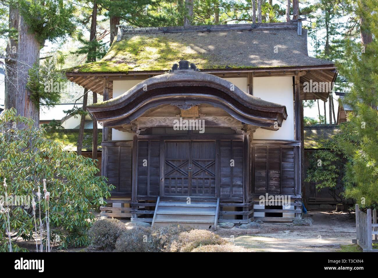 Depository of the Buddhist scriptures of Kongobuji, at Kongobuji temple in Koyasan, Japan. - Stock Image