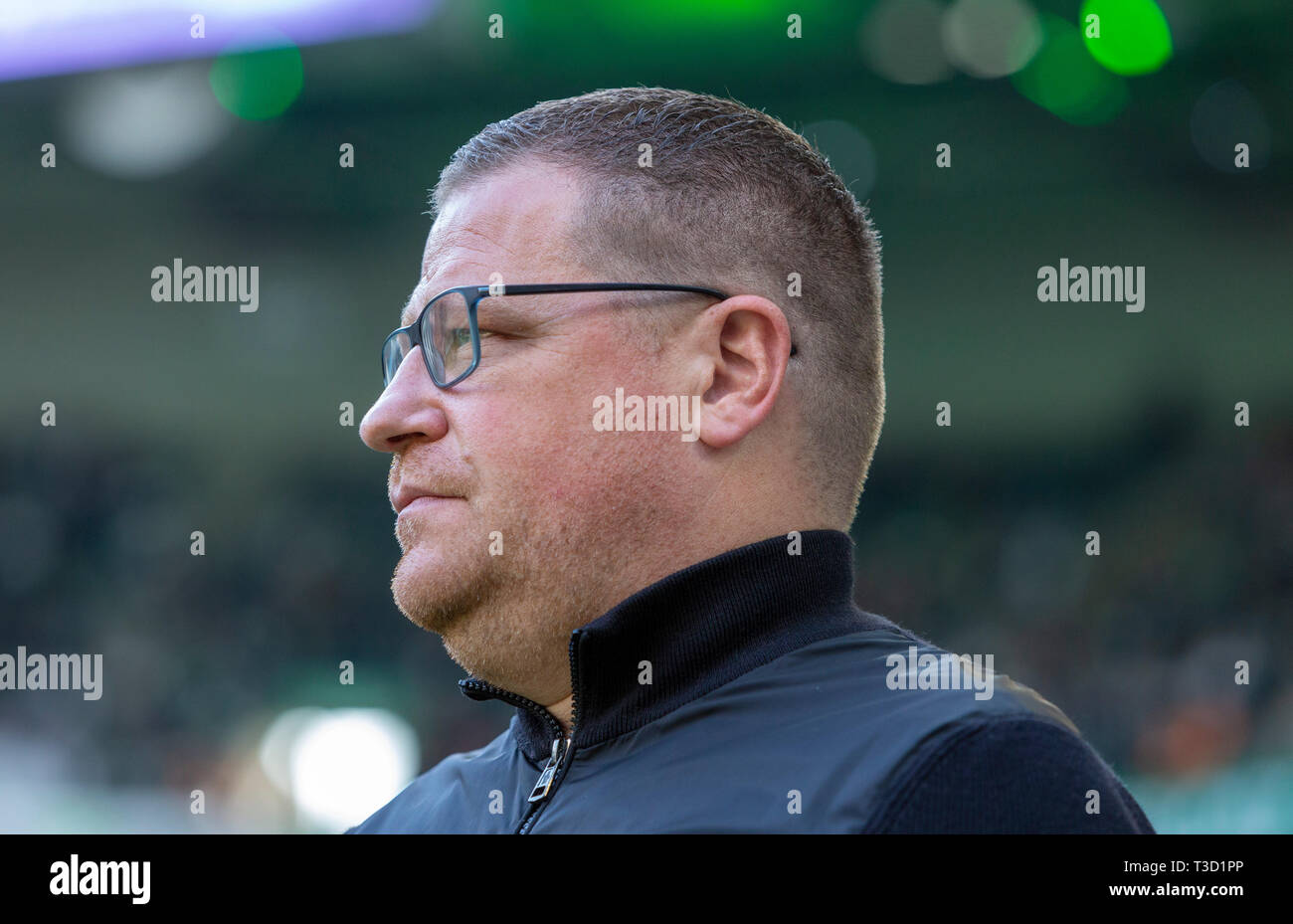 sports, football, Bundesliga, 2018/2019, Borussia Moenchengladbach vs SV Werder Bremen 1-1, Stadium Borussia Park, sports director Max Eberl (MG), DFL REGULATIONS PROHIBIT ANY USE OF PHOTOGRAPHS AS IMAGE SEQUENCES AND/OR QUASI-VIDEO - Stock Image