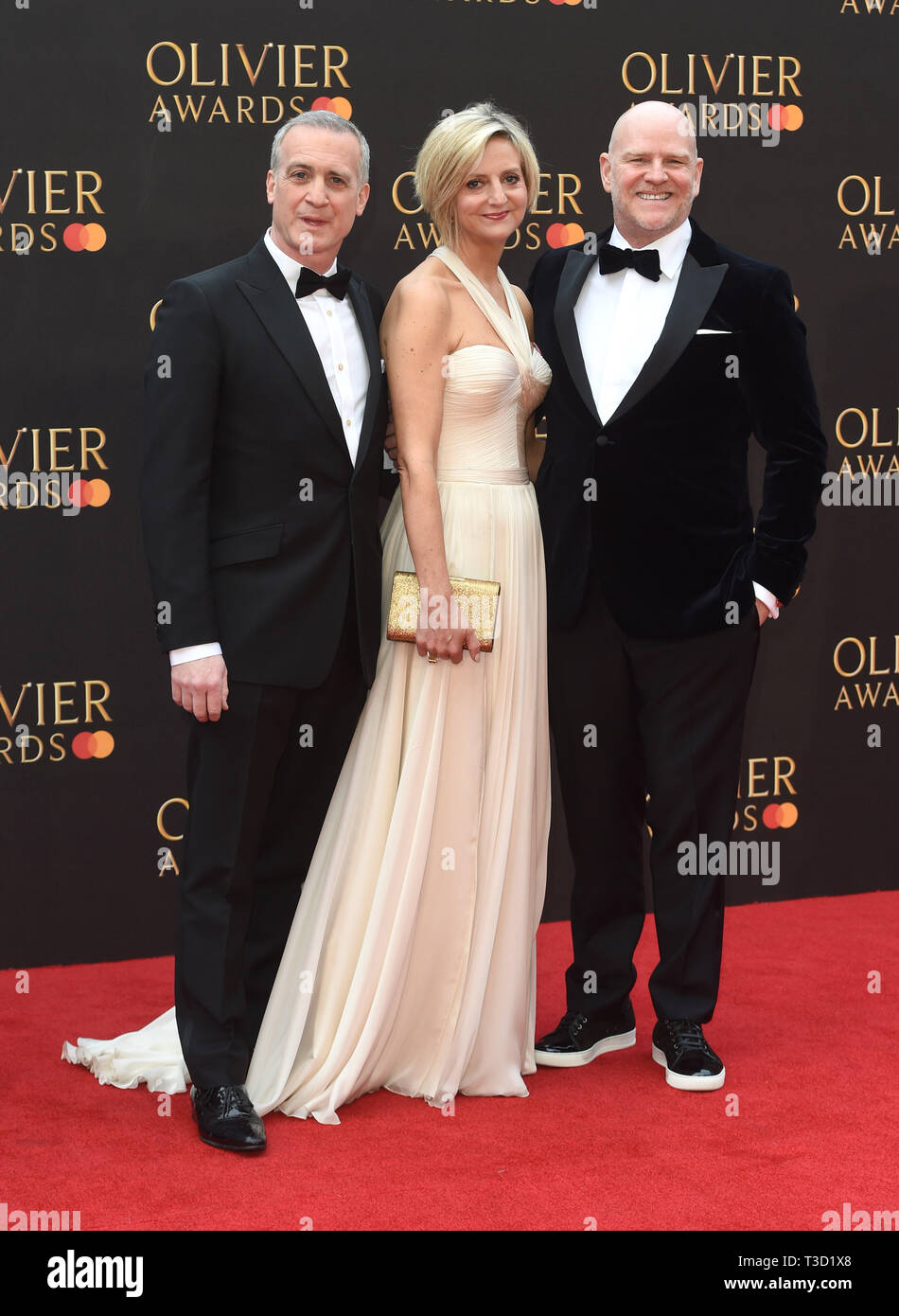 Photo Must Be Credited ©Alpha Press 079965 07/04/2019 Nick Sidi Marianne Elliott and Chris Harper The Olivier Awards 2019 at the Royal Albert Hall London - Stock Image