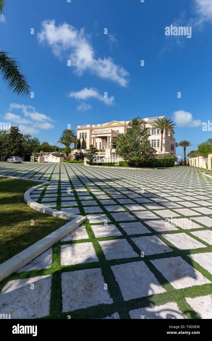 Siesta Key, FL - March 27, 2019: Siesta Key mansion and setting for