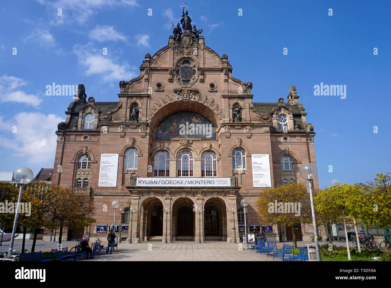 Opera house and state theatre, art nouveau style, Nuremberg, Franconia, Bavaria, Germany Stock Photo
