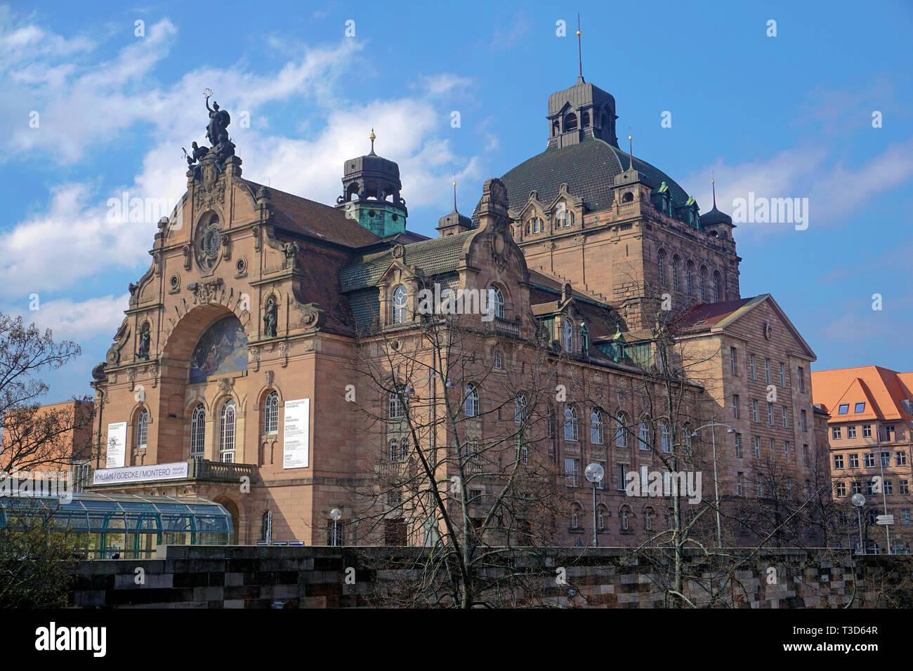 Opera house and state theatre, art nouveau style, Nuremberg, Franconia, Bavaria, Germany - Stock Image