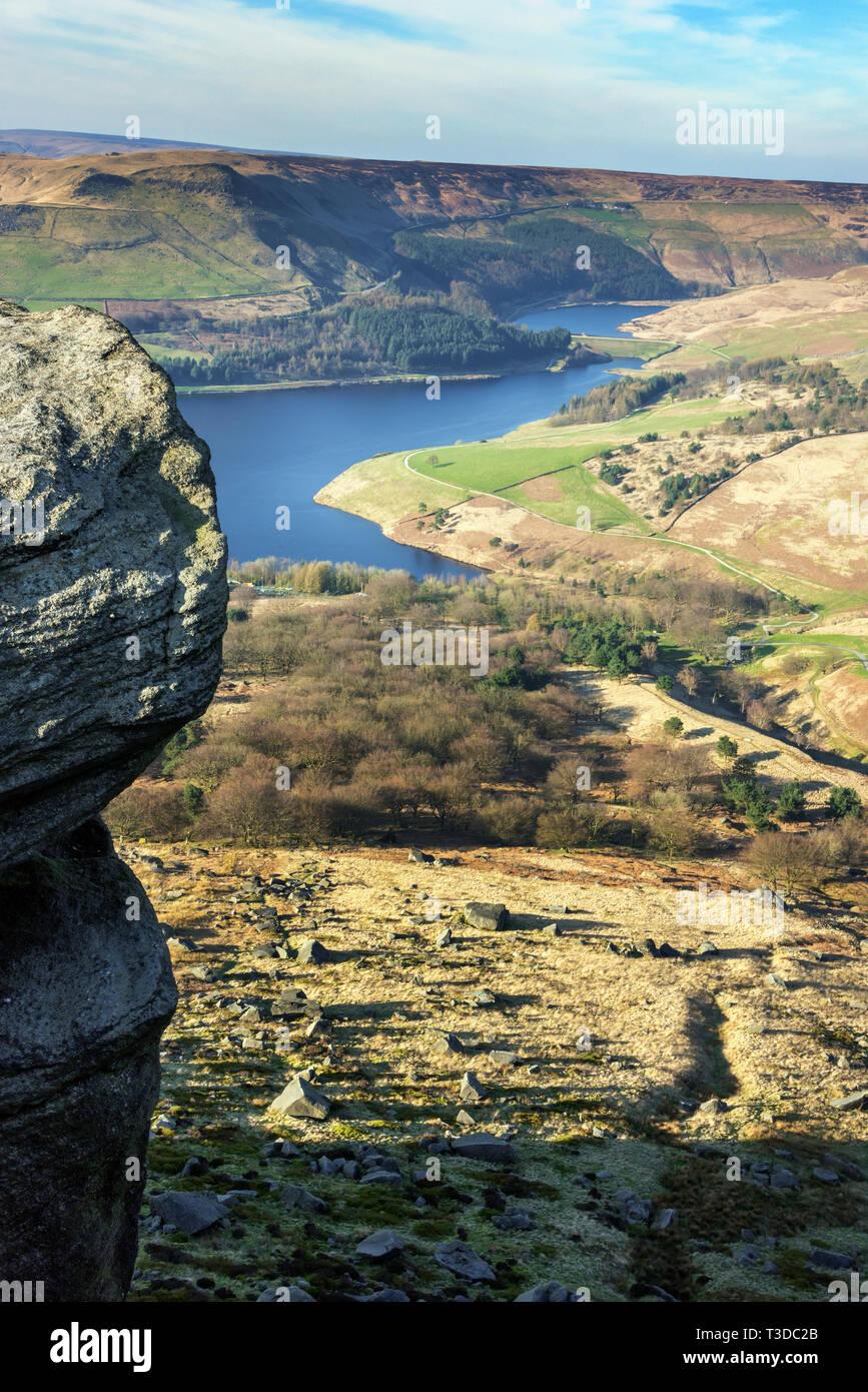 Dovestone Reservoir, Greenfield, Greater Manchester UK. - Stock Image
