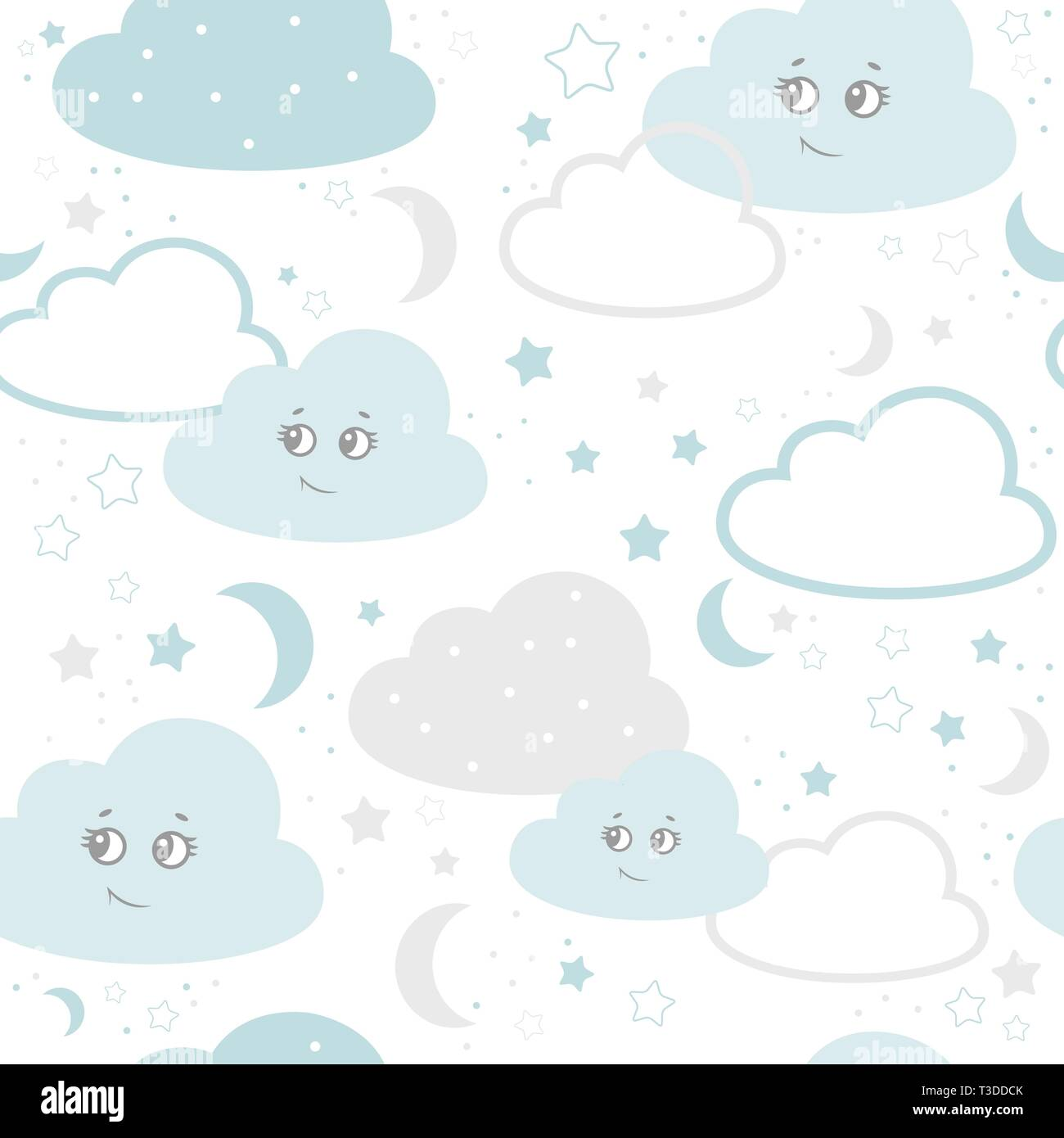 vector illustration baby seamless pattern  Children seamless