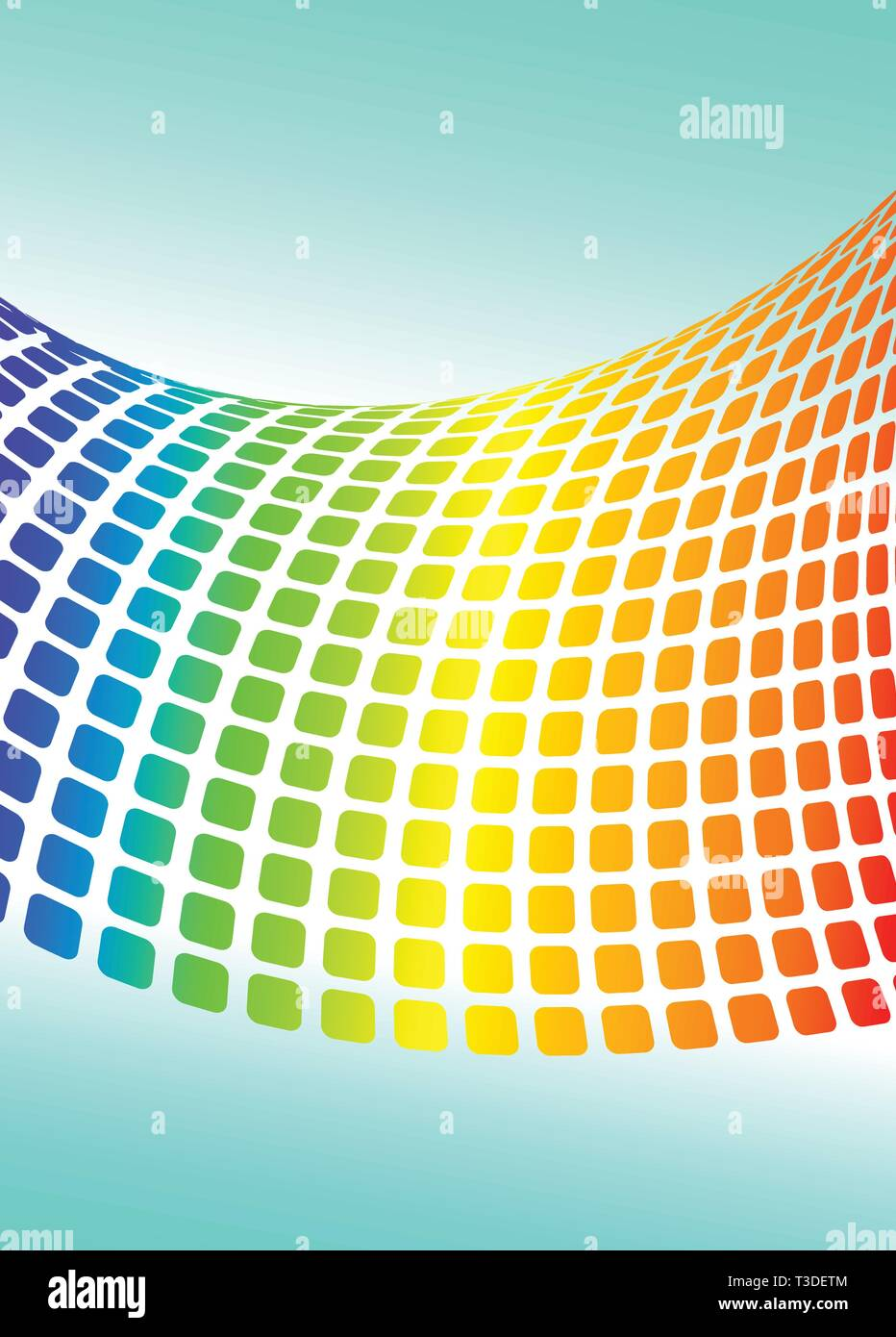 Vector background with halftone rainbow for your design - Stock Image