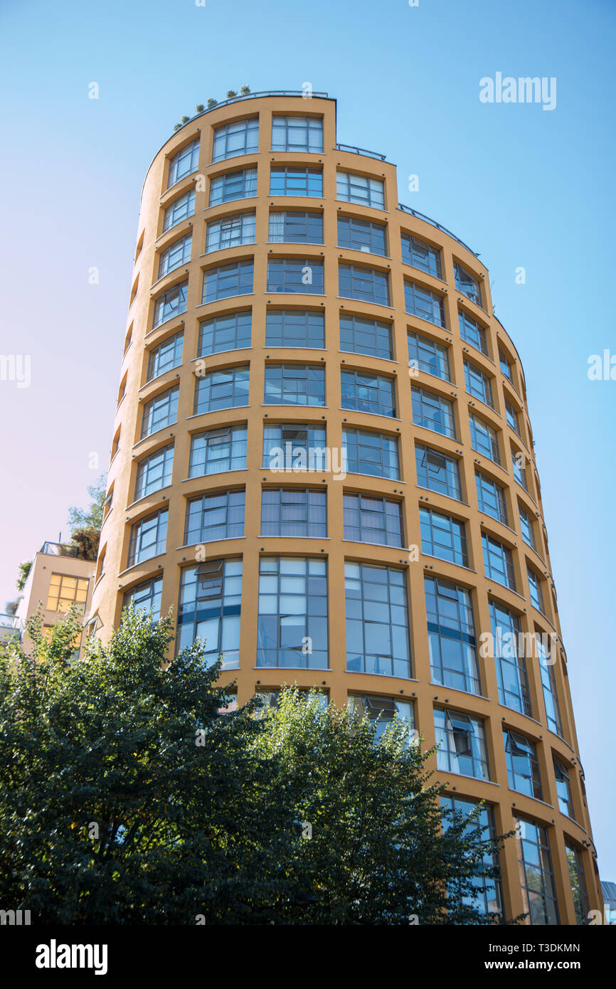Bankside Loft apartments Southwark London - Stock Image