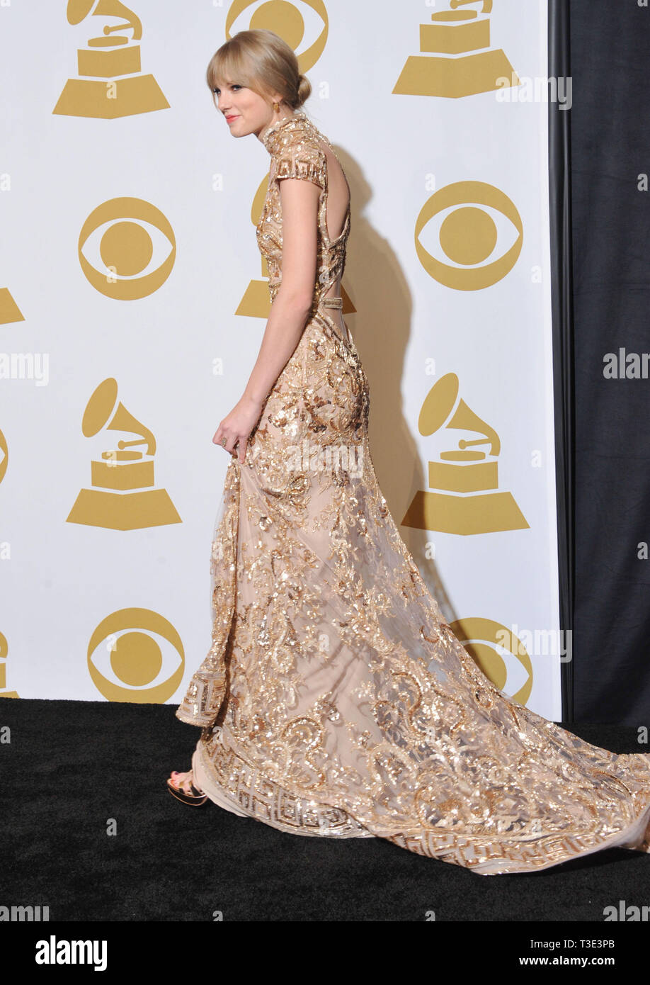 Taylor Swift At The 54th Annual Grammy Awards 2012 Press Room At The Staples Center In