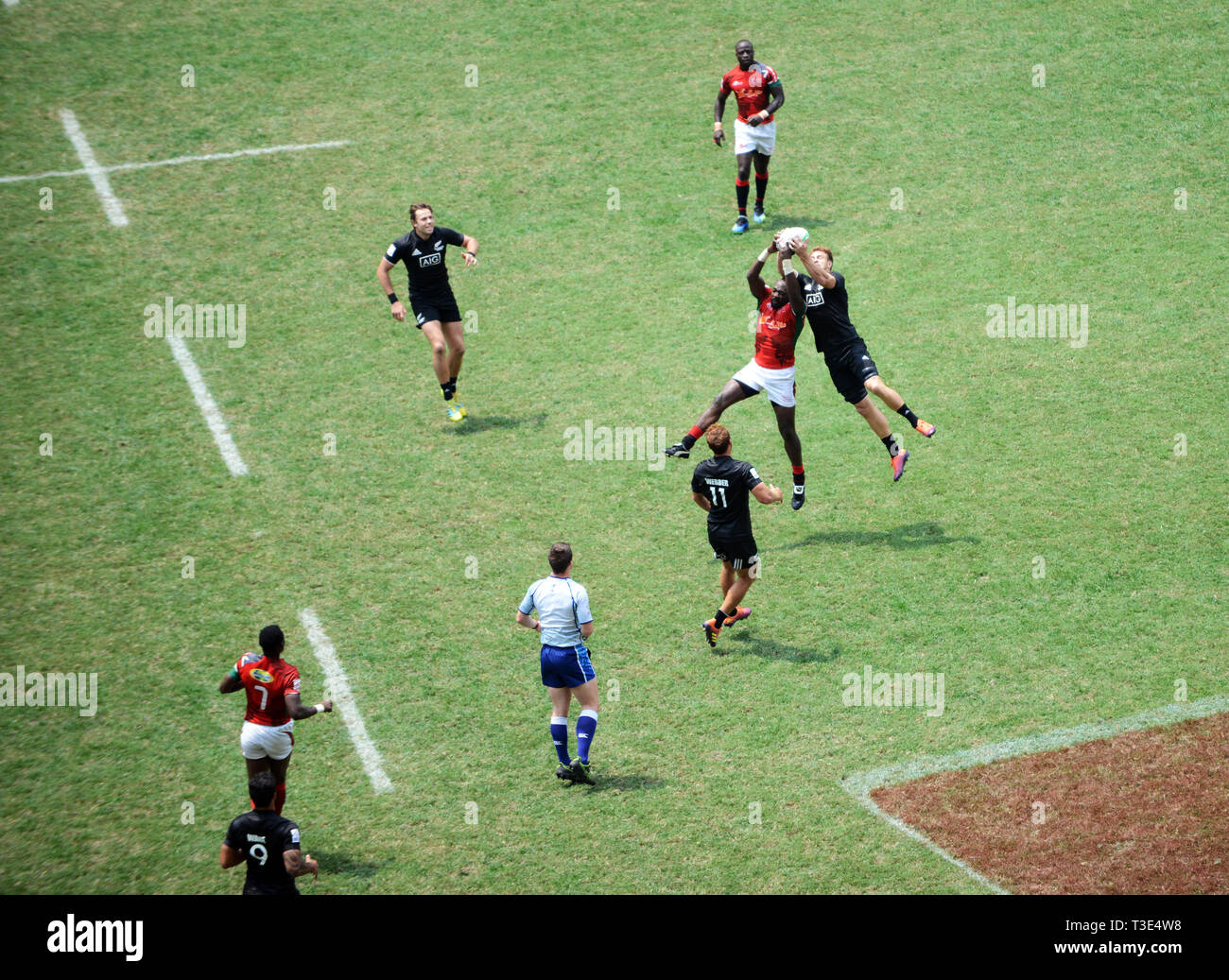 A Rugby Sevens match. Stock Photo