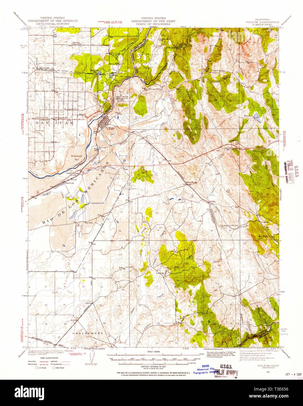 California Topo Map on