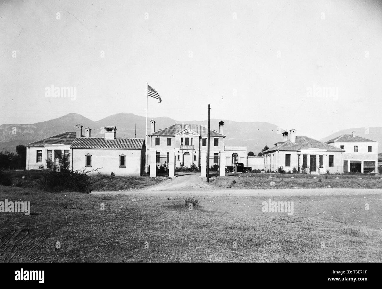 Front view of U.S. Legation in Tirana Albania ca. 1938 - Stock Image