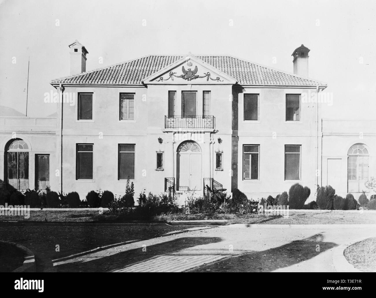 View of U.S. Legation in Tirana Albania ca. 1938 - Stock Image