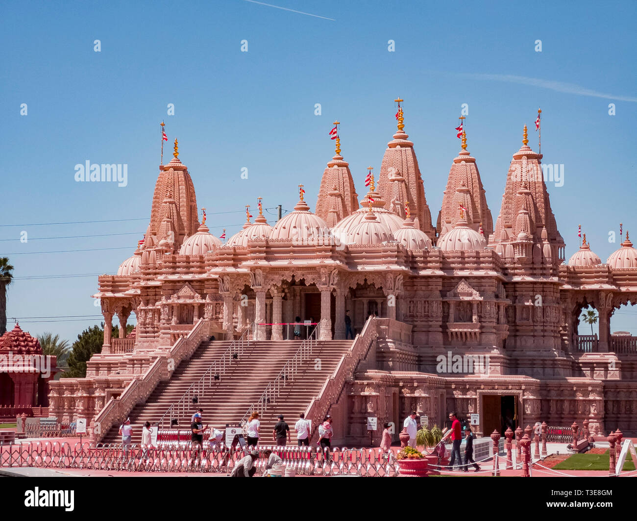 Chino Hills, MAR 31: Exterior view of the famous BAPS Shri