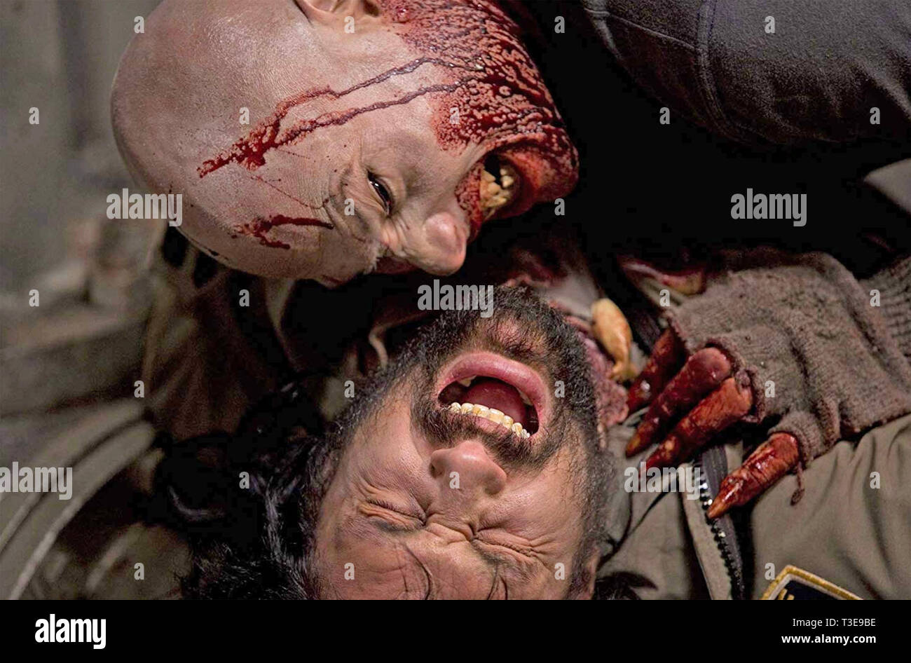 30 DAYS OF NIGHTS 2007 Columbia Pictures film with Andrew Stehlin (top) as Arvin the Vampire and  Manu Bennett - Stock Image