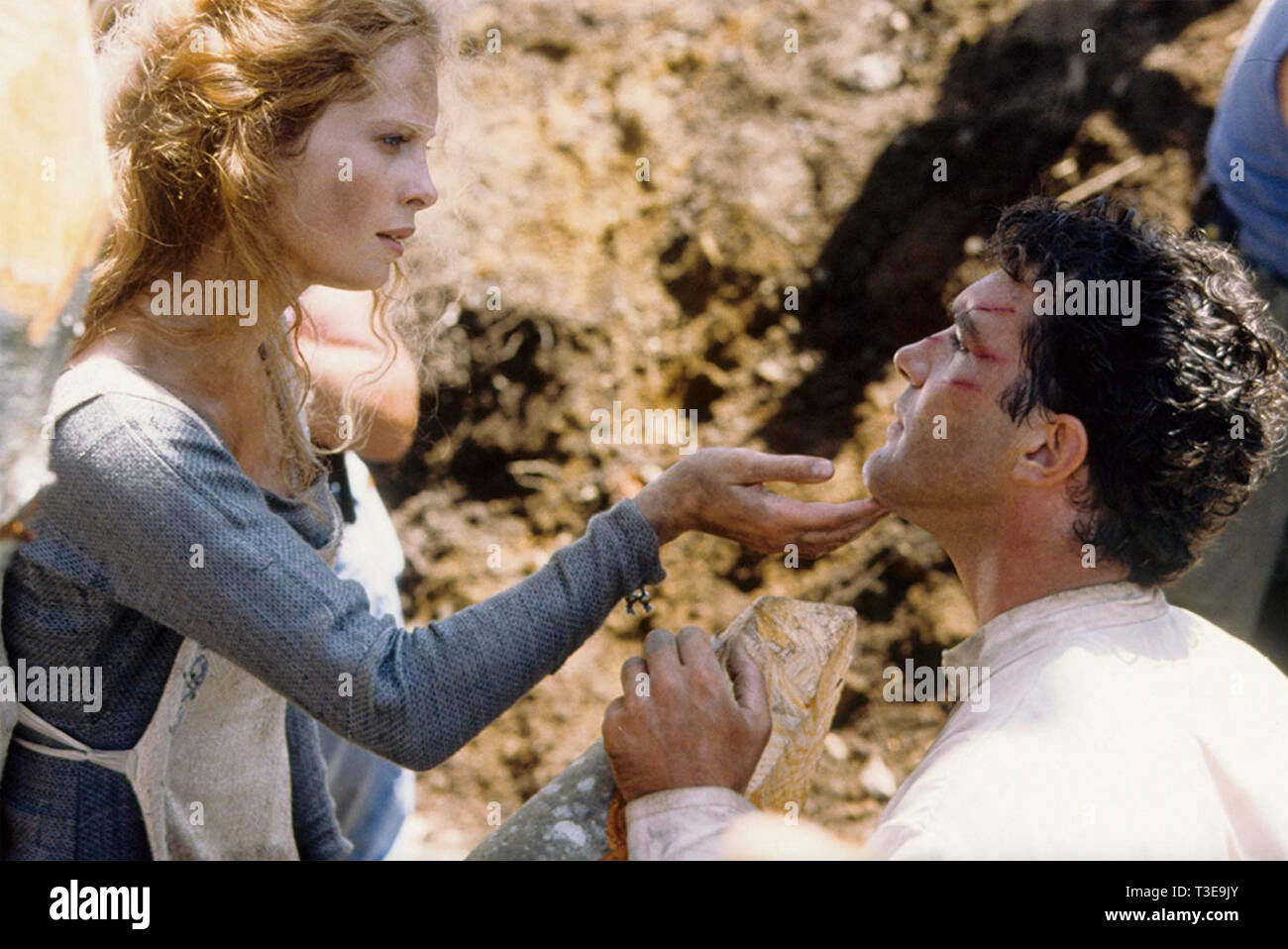 THE 13TH WARRIOR 1999 Touchstone Pictures film with Antonio Banderas and Maria Bonnevie - Stock Image